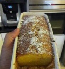 עוגת סולת קוקוס ותפוז