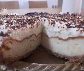 עוגת גבינה אפויה ללא סוכר