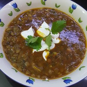 מרק עדשים ירוקות הכי טעים  בעולם