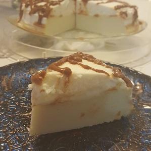 עוגת גבינה קצפת וריבת חלב